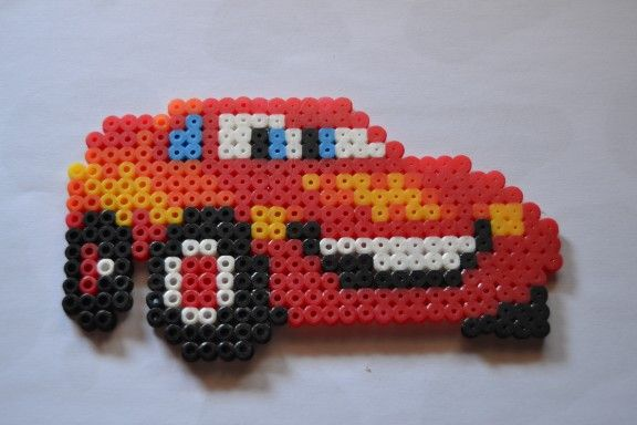 McQueen - Cars hama beads by  Mircoles Nightmare