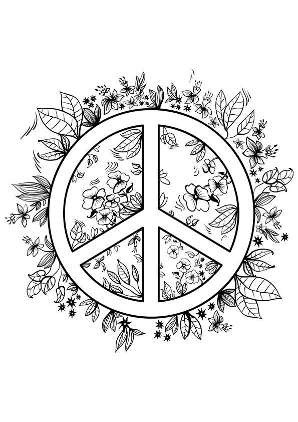 free printable peace sign coloring pages - Peace Sign Coloring Pages