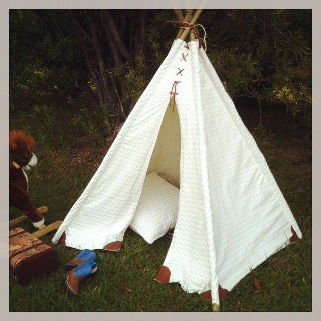 Custom made to order - Cotton Canvas and Leather Teepee.  www.facebook.com/Kittyandzac www.etsy.comshop/kittyandzacs