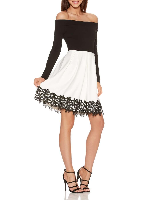 Womens Crochet Skater Dress Quiz K4azwj
