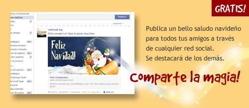Imagenes y frases navideñas para Facebook, Twitter, Google+, Orkut - Saluda gratis a traves de todas las redes sociales en Correomagico.com