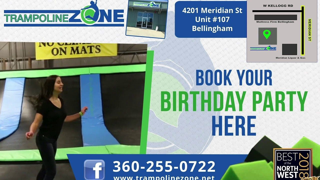 Bellingham, come on into Trampoline Zone for fun for the whole family! Trampoline Zone • #trampoline...