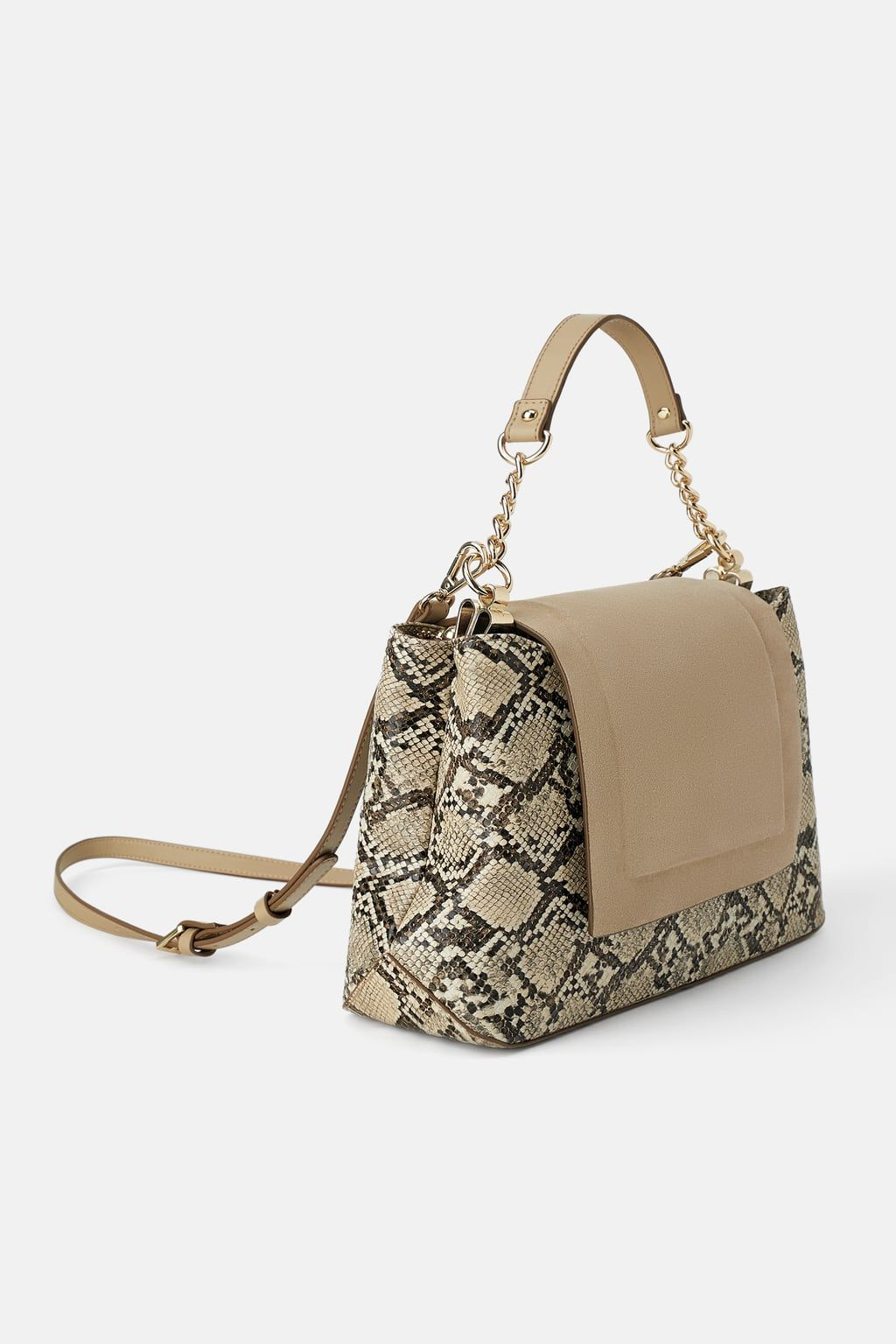 1c92b0e9 Animal print crossbody bag with leather flap in 2019 | bags | Bags ...
