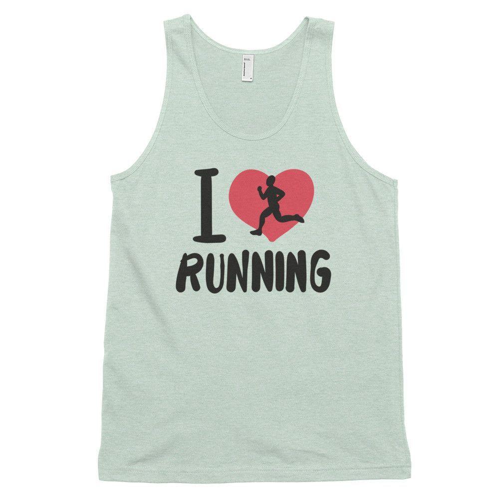 I Love Running Classic Tank Top (unisex)