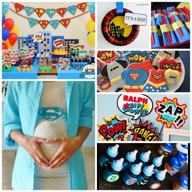 {Fantastic} Superhero Baby Shower Ideas