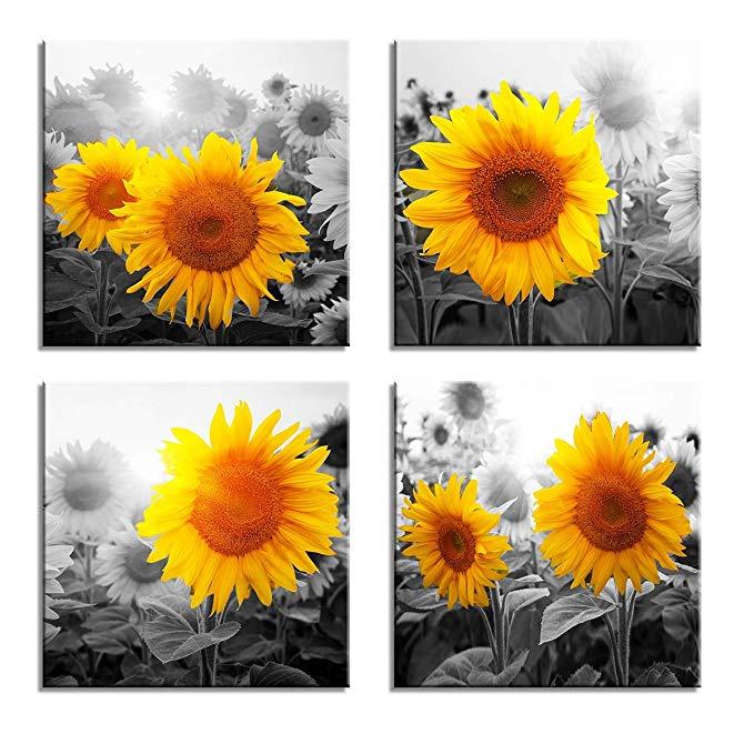Affiliate Amazon De Visario Leinwandbilder 6614 Bild Auf Leinwand Sonnenblume 4 X 30 X 30 Cm 4 Bilder Leinwand Kunst Furs Wohnzimmer Wanddekor Schlafzimmer