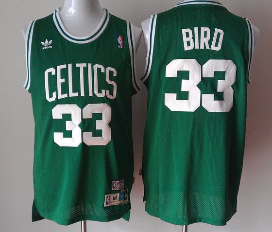 492605b0536 Adidas NBA Boston Celtics 33 Larry Bird New Revolution 30 Swingman Soul Throwback  Green Jersey