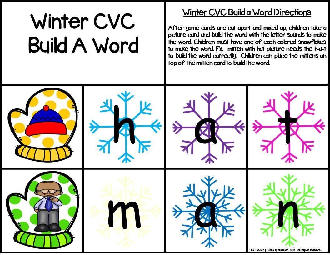 Winter Build A Cvc Word