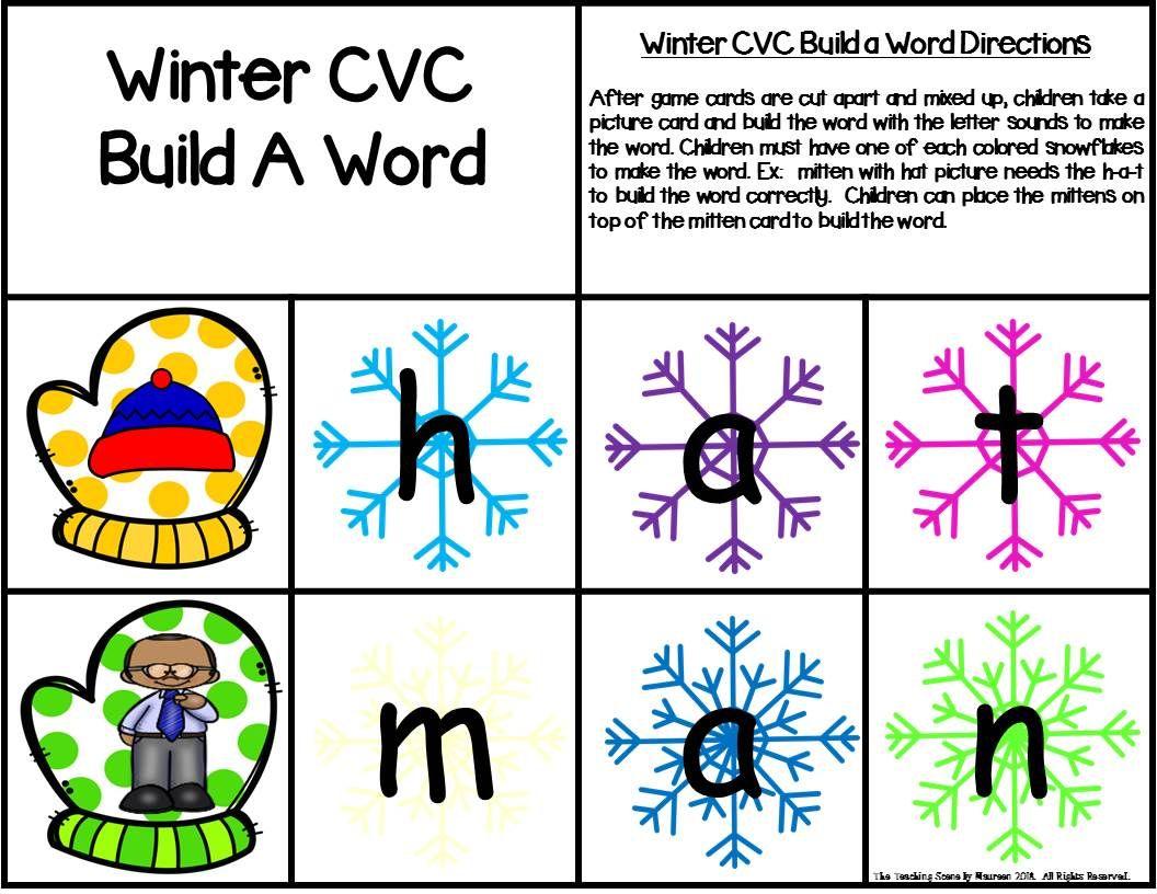 Winter Build A Cvc Word