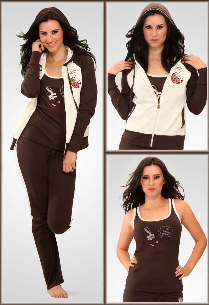 Active Wear 3 Piece Zip-Up Hoodie, Top and Pants  $19.99 www.fashionboutiqueusa.com