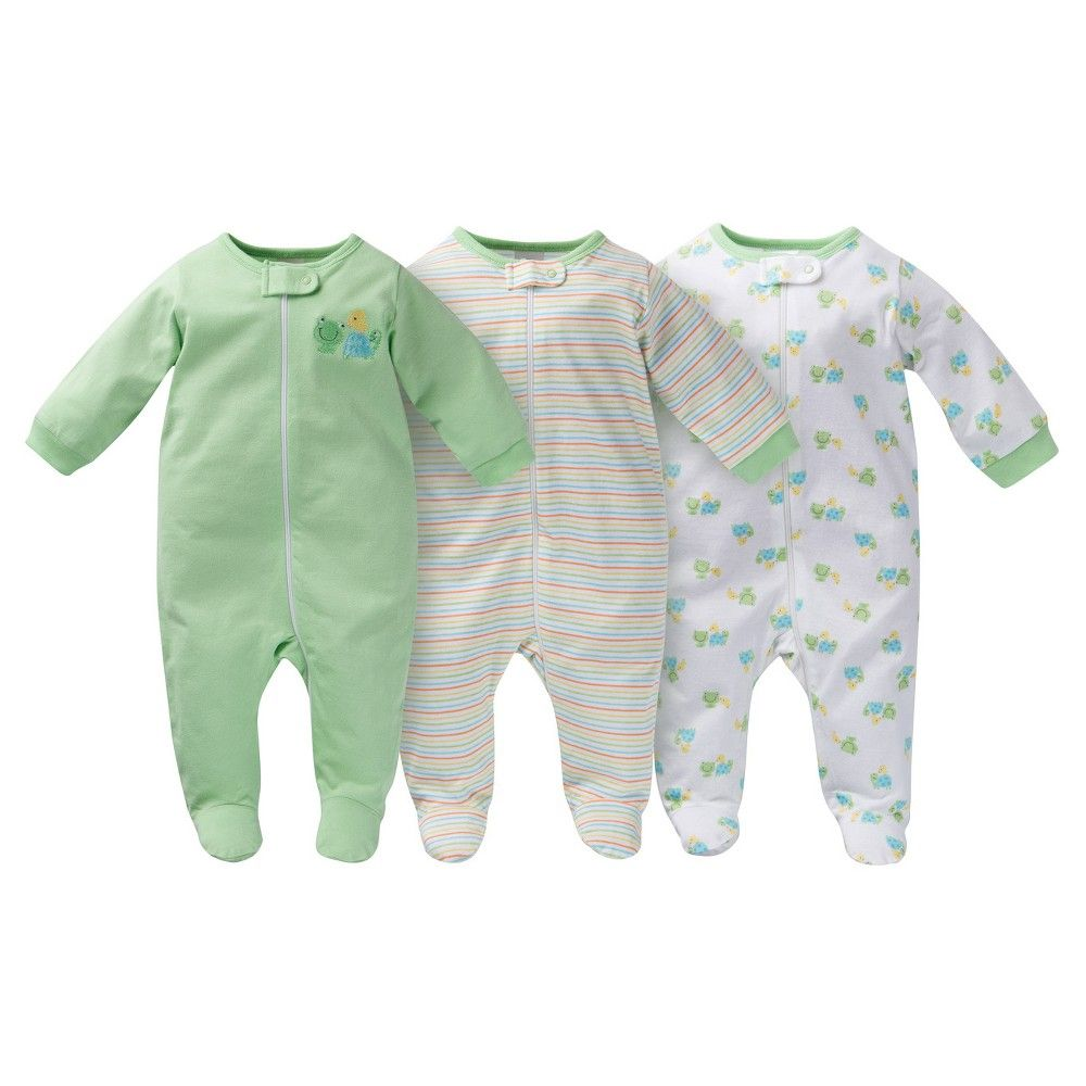 Gerber® Onesies® Baby Sleep N  Play Footed Sleepers - Frog Print Green    Target 65bc0d667
