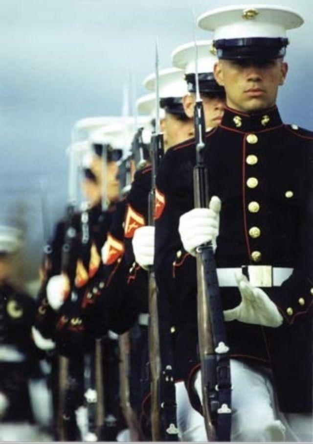 US Marines = men in uniform! to die for!