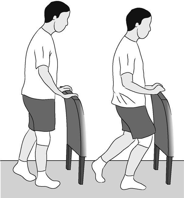 Knee bend, partial, single leg