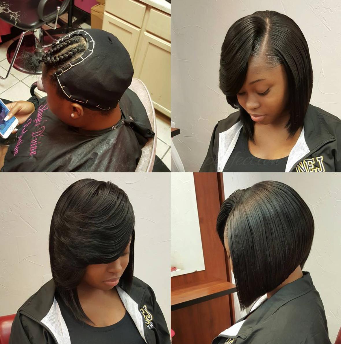 Nice Quick Weave Bob Via Shayes Dvine Perfection Black Hair Information Weave Bob Hairstyles Quick Weave Hairstyles Black Bob Hairstyles