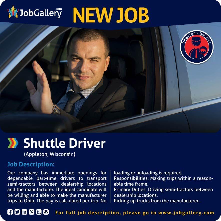 SEEKING A PARTTIME SHUTTLE DRIVER APPLETON, WI jobs