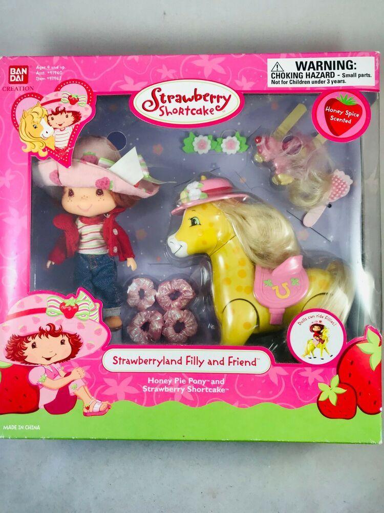 Strawberry Shortcake Doll Filly And Friend Honey Pie Pony Nib 2003
