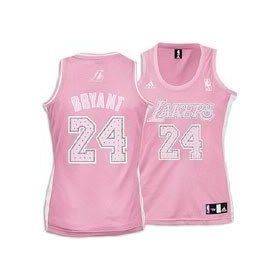 Kobe Bryant  24 Los Angeles Lakers Pink Jersey Adidas Womens Medium ... 59ec8b341