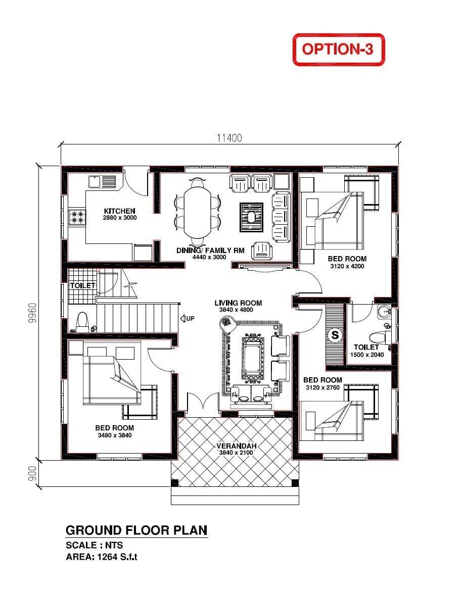 Home Plans Kerala Model Luxury 2 Bedroom House Plans Kerala Style Fresh 3 Bhk Home Plan Model House Plan Drawing House Plans New House Plans