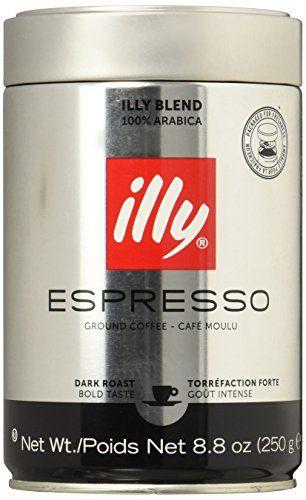 Illy Ground Espresso Dark Roast Coffee 88oz Pack Of
