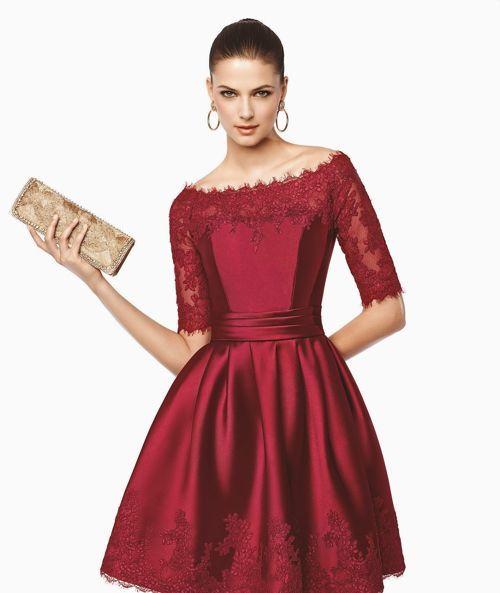 Vestidos color vino para una boda