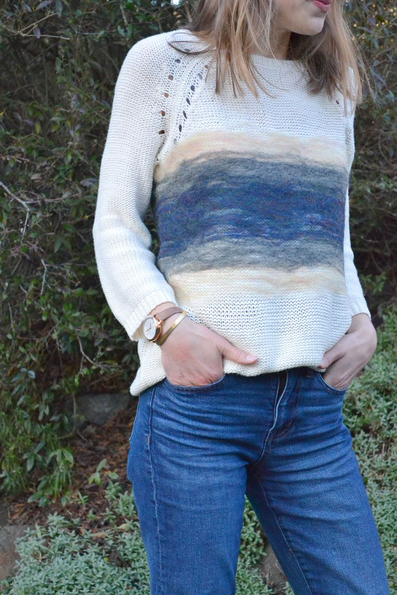 Upcycled Sweater - Remade with Needle Felting // Blanche & Thirteenth
