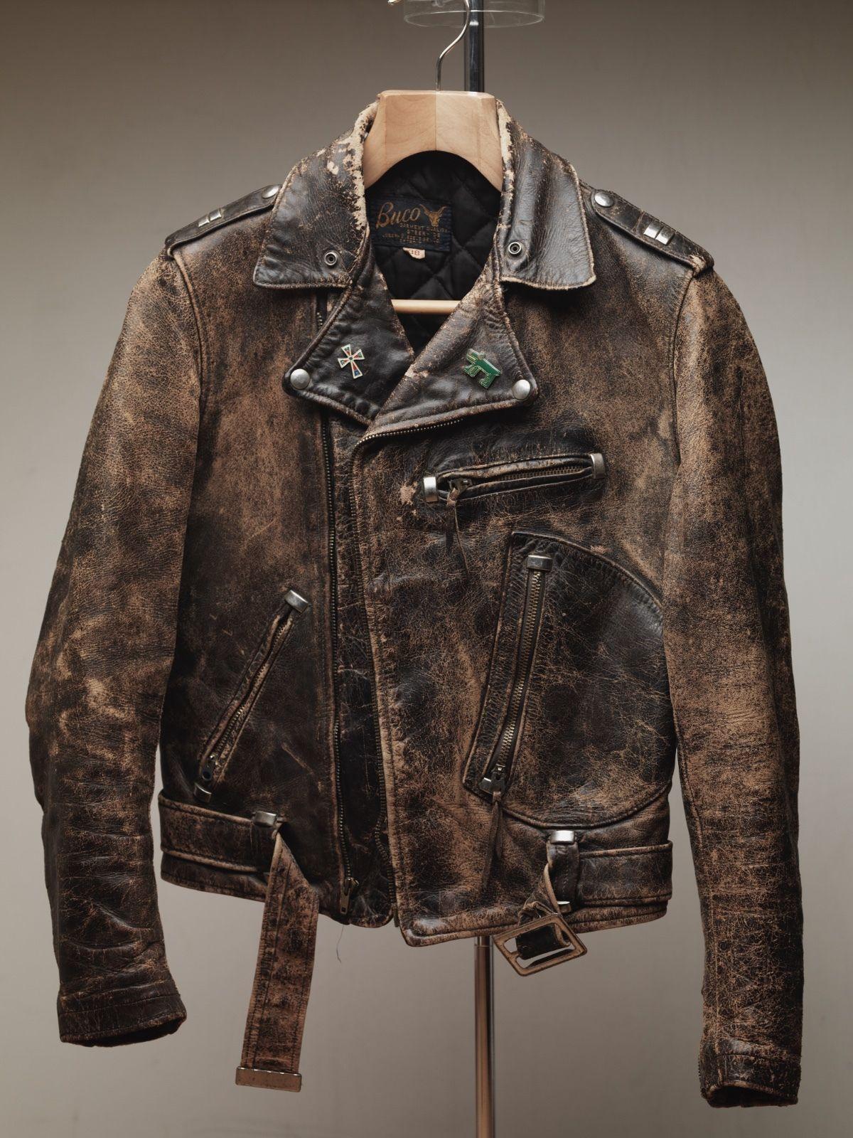 Real Mccoys Harley Cycle Champ Leather Horsehide Jacket 40 Elvis Presley Buco Leather Jacket Men Style Vintage Clothing Men Leather Jacket Style [ 1600 x 1200 Pixel ]