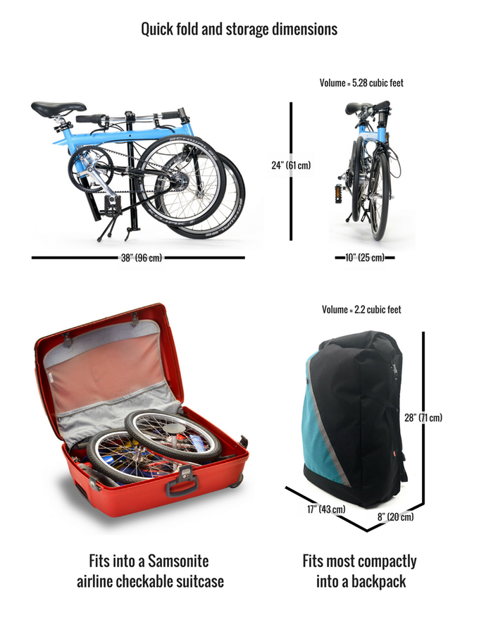 Pakit City Bike Lightest Folding Bike Ever Fits In Backpack By