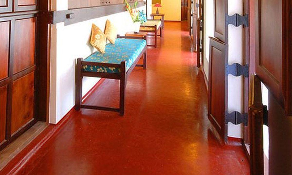 Red Oxide Floors of Southern Homes mygubbi Kerala