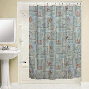 Bacova Guild Spa Shells Shower Curtain Curtains Walmart Nautical Theme Coastal Living