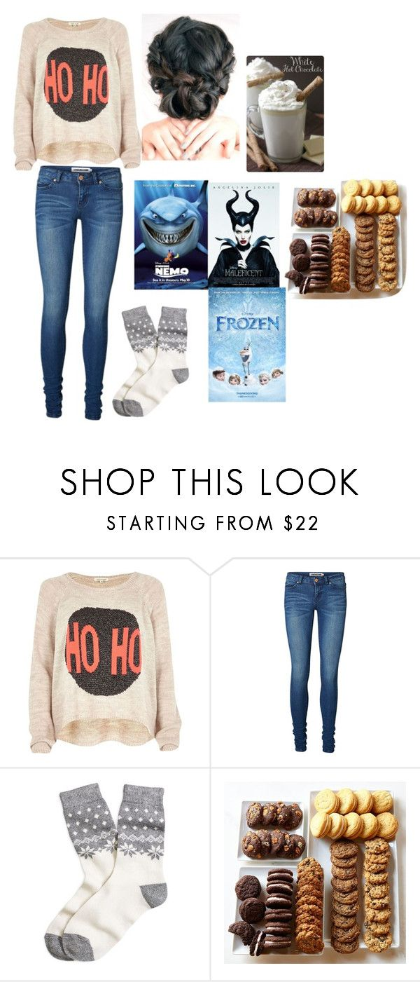 """Watching Disney movies"" by imaray98 ❤ liked on Polyvore featuring moda, River Island, Vero Moda, Brooks Brothers y Disney"