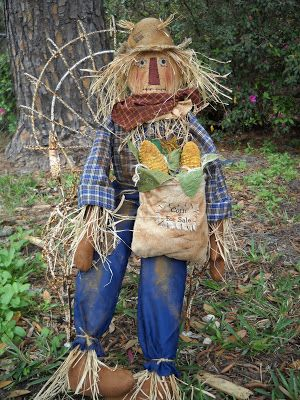 The Olde Country Cupboard New Scarecrow Pattern Ready Let\u0027s carve - halloween scarecrow ideas
