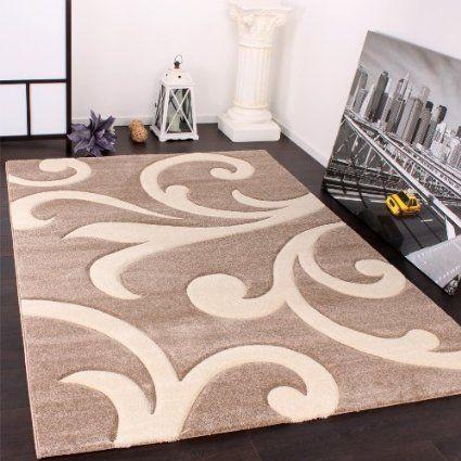 Tappeto Di Design Orlo Moderno Nei Colori Beige Crema Dimension 80x150 Cm Amazon It Casa E Cucina Tappeti Pulizia Tappeti Tappeti Design