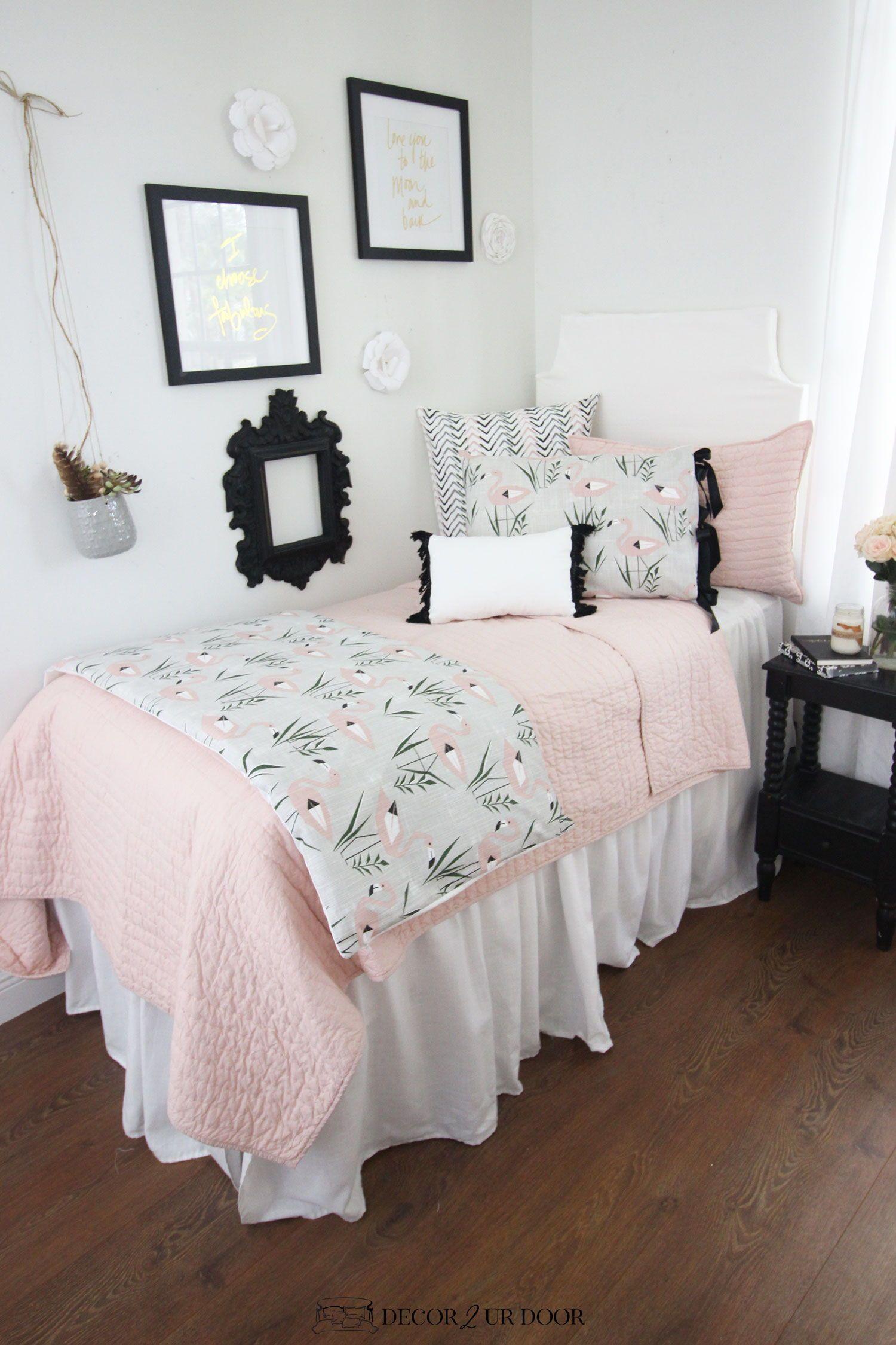 Dorm Room Furniture: Blush Pink Dorm Room Ideas And Inspiration