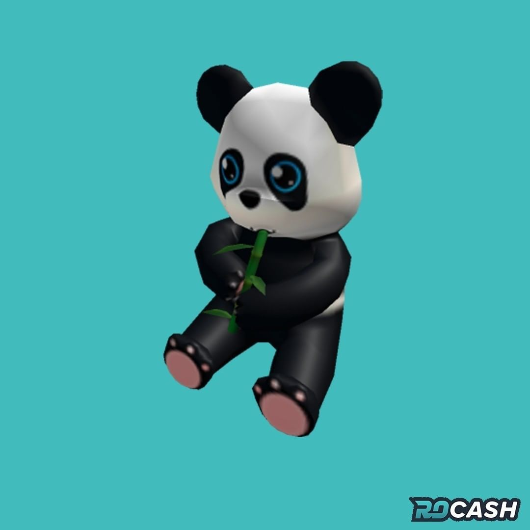 Want To Get The Panda Plushie Hat For Free You Can Earn Robux On Rocash And Withdraw Directly To Your Roblox Account Click The Link In Our Bio To Get Started Em