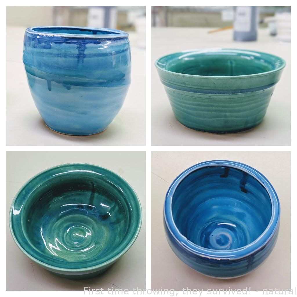 First time throwing, they survived! · natural |  #ceramicideas #diypotterypaintingideas #pottery #potterydesign #potterypaintideas