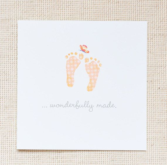 New Baby Note Card, New Baby Announcement, Bible Scripture Baby Card