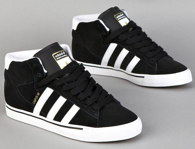 buy popular bace5 338b2 Adidas Skateboarding Campus Vulc Mid BlackWhite