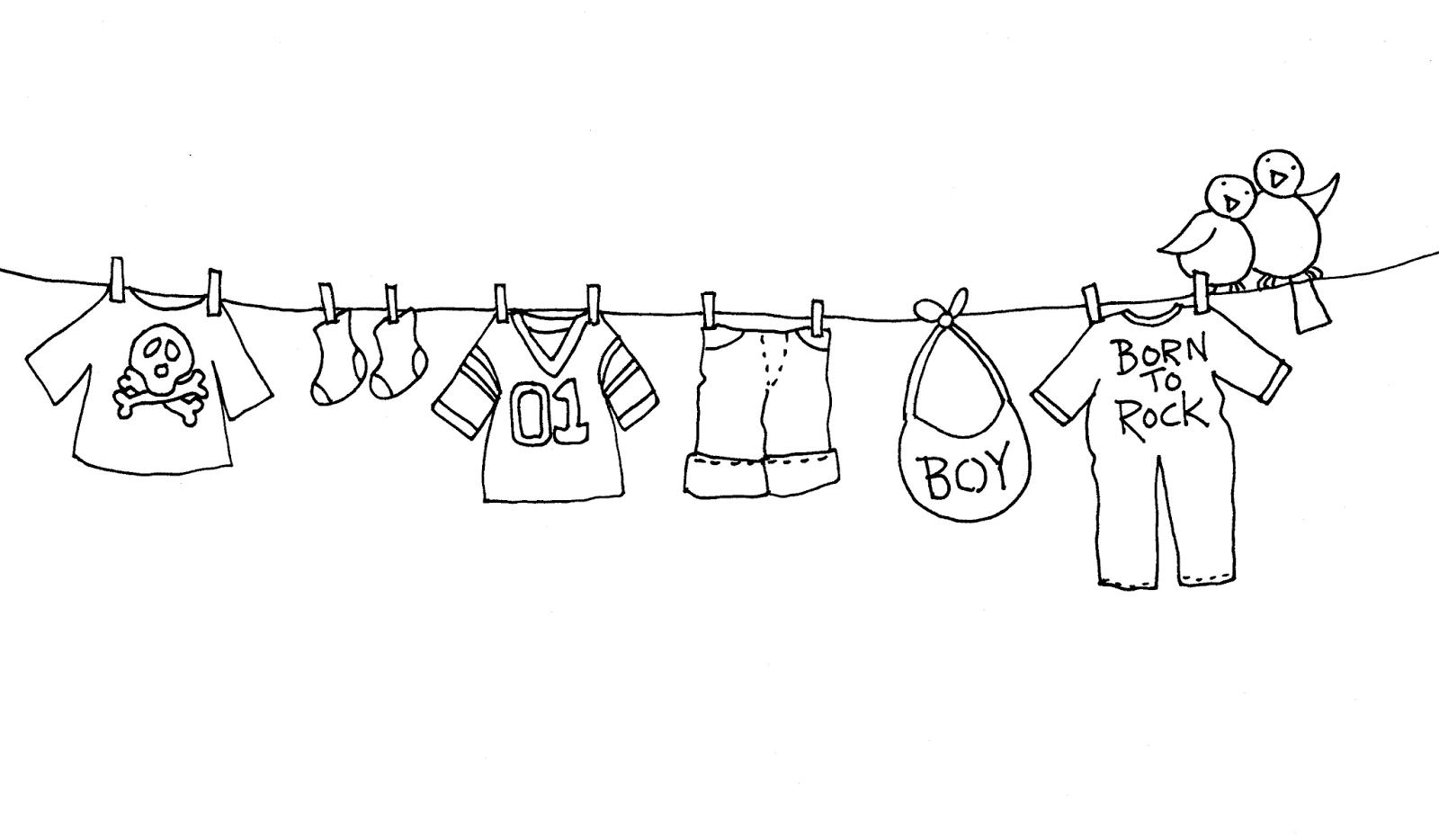 Free Dearie Dolls Digi Stamp new baby clothesline Digi