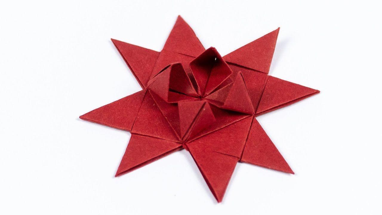 Frobelstern Basteln Anleitung Einfach Origami Csillagok