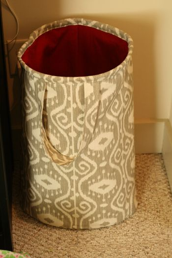 Diy Hamper From Fabric Com Blog Canvas Hamper Upcycle Sewing
