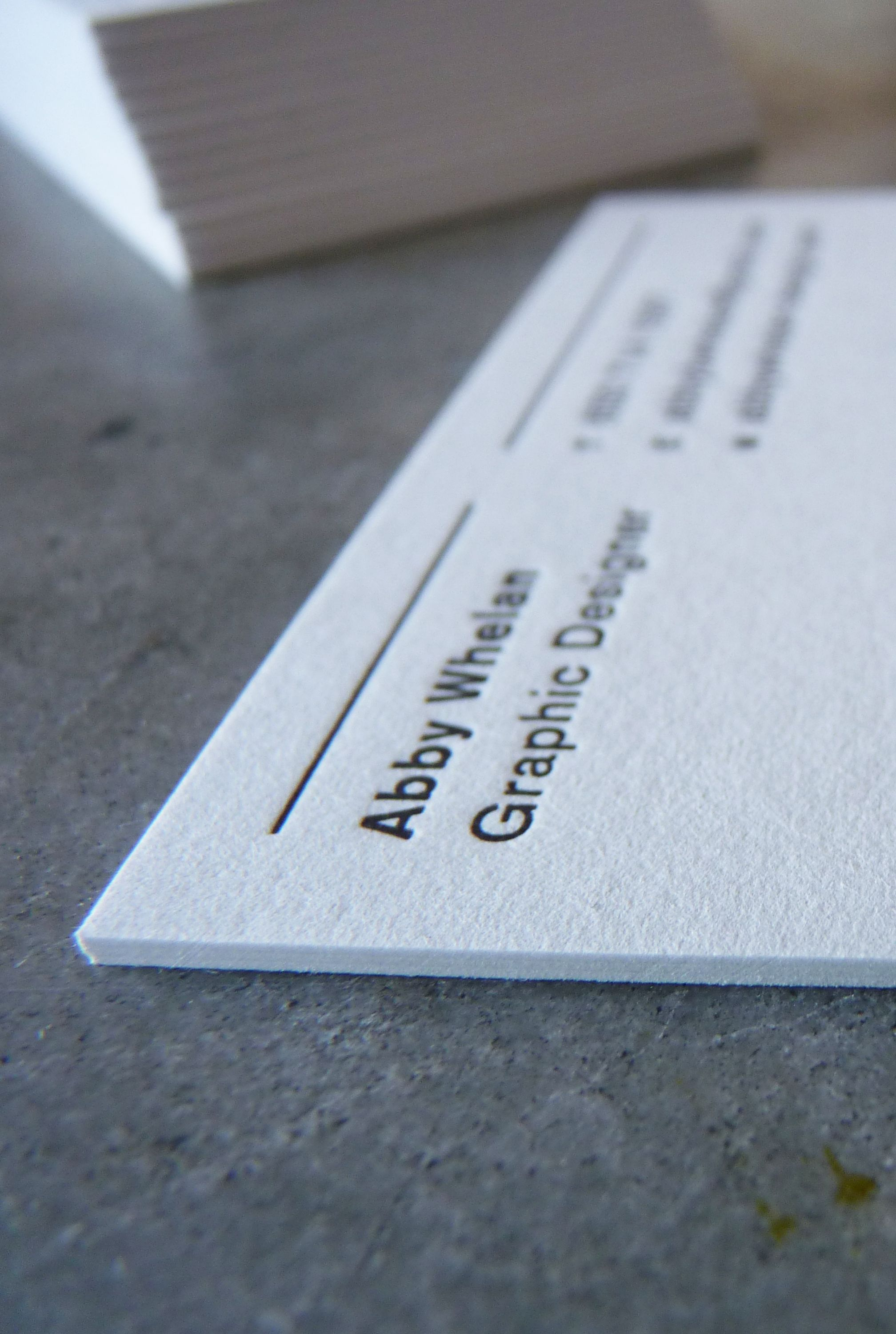 Letterpress printed business card in black ink on extra thick stock letterpress printing in san francisco skilled craftspeople custom design bespoke wedding invitations business cards and promotions classes and events colourmoves