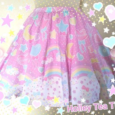 Pastel party pink skater skirt made to order fairy kei, kawaii, jfashion, harajuku, decora, rainbow