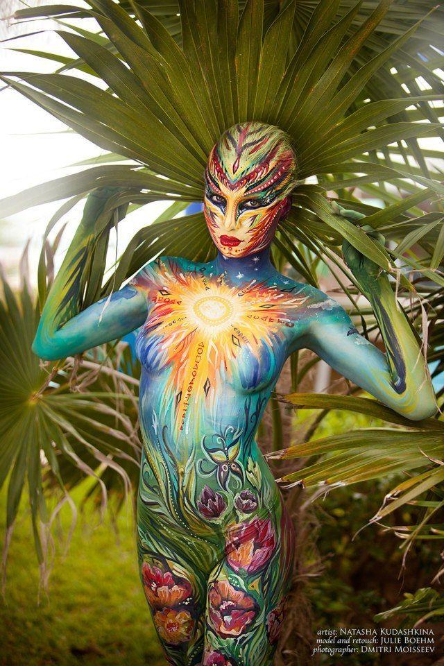 Photo of Sunny Body Painting for the Art Fashion Studio. by NatashaKudashkina on deviantART