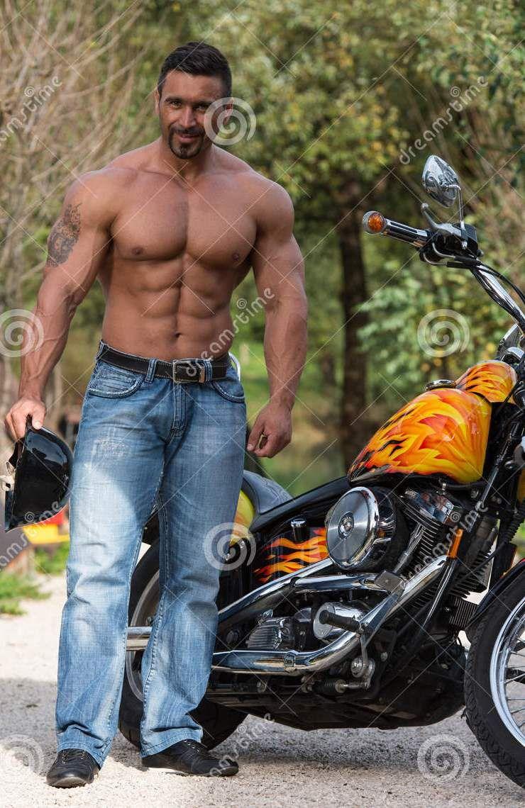 Pin on Hot Biker Men