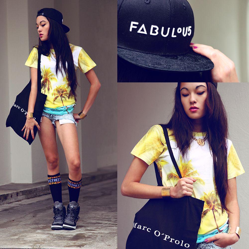 Fashion blogger Anna Alessandra Kamaile Deller-Yee - Berlin x Breaking Rocks OMG Palmtree t-shirt. #breakingrocks #fashionblogger