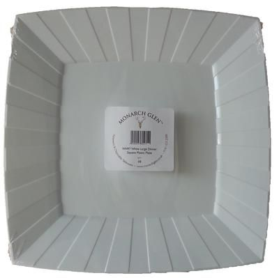 10 MG Square Plastic Dinner Plates - White & 10 MG Square Plastic Dinner Plates - White | White Square Plastic ...