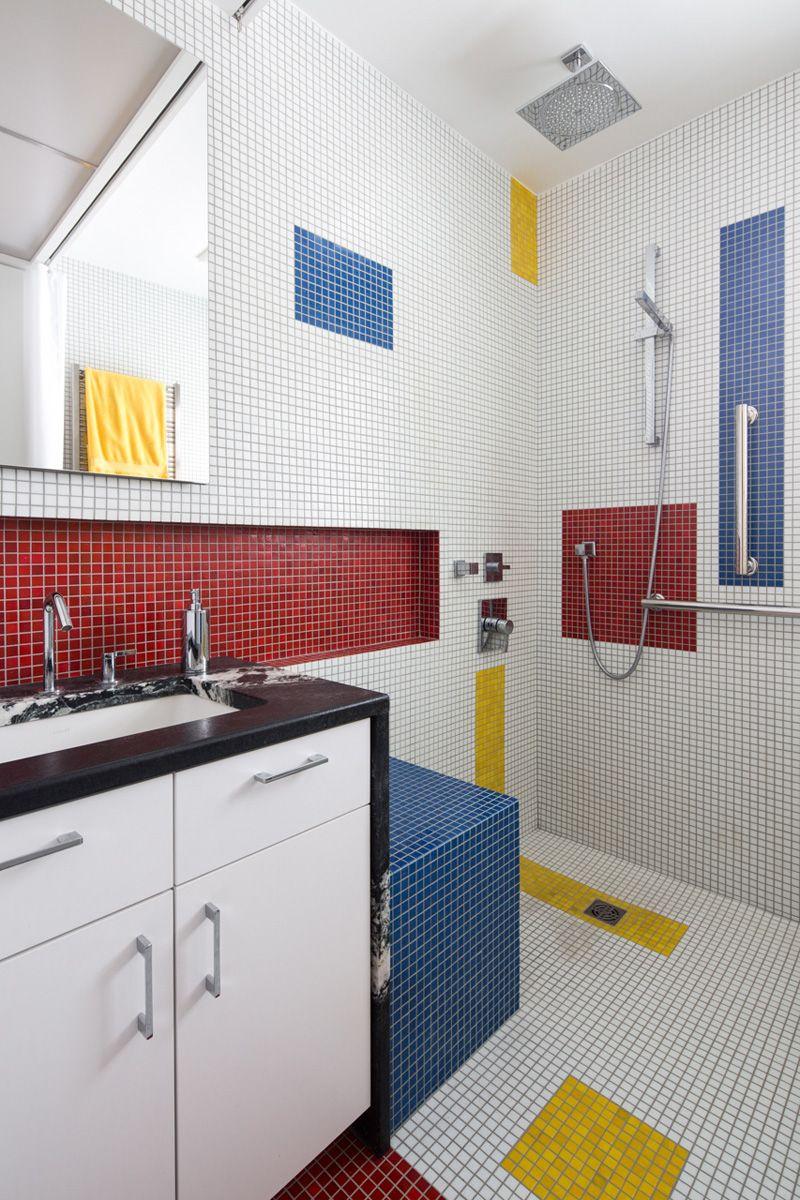 A Mondrian Banho Inspirado Pela oficina Alloy