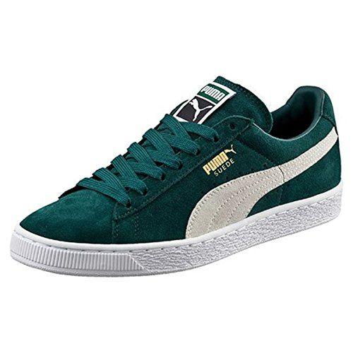 PUMA Men's Suede Classic + Fashion Sneaker, Ponderosa Pine/Puma, 8 M US