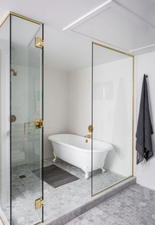 glass enclosed tub shower combo. Clawfoot Tub In Glass Enclosed Shower Life On Sundays  For The Home Pinterest Glass Bath And Interiors