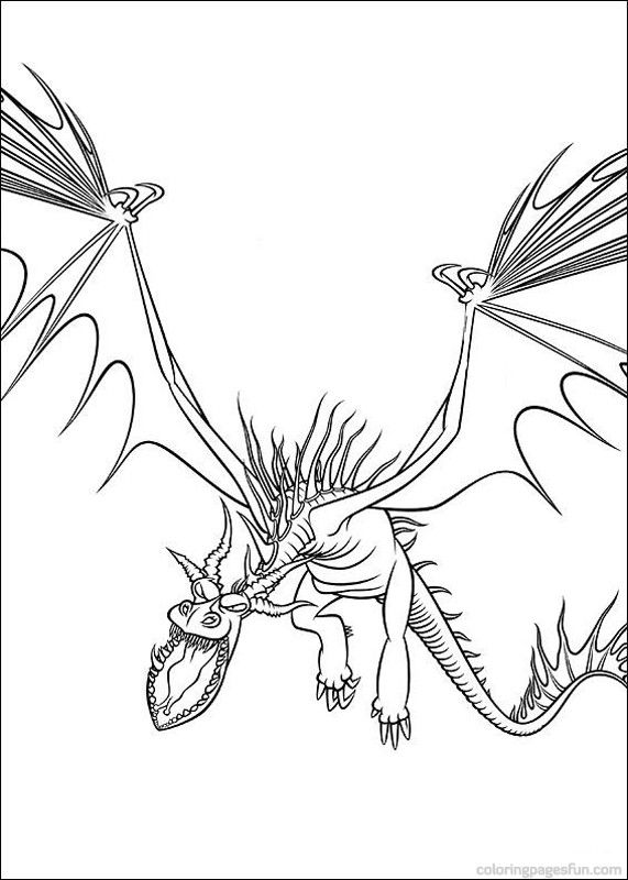 How To Train Your Dragon Coloring Pages 7